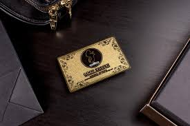 Steel Business Cards Gold Metal Business Cards Luxury Printing