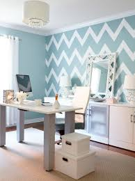 how to decorate home office. Interior Designer Jo Alcorn Whitewash \u0026 Co Home Office Chevron Wall Blue How To Decorate