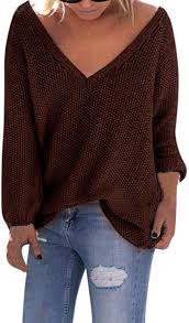 Women Long Sleeve Knitted Sweater Pullover Blouse ... - Amazon.com