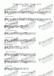 Violin Music Scales Chart Violin Scales Chart Grade 1 Ln For Solo Instrument Solo Violin By Andrew Hsu Sheet Music Pdf File To Download