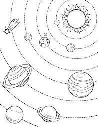 Small Picture Printable Solar System coloring page Free PDF download at http