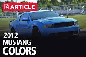 2012 Mustang Color Chart 2012 Mustang Colors Options Photos Color Codes