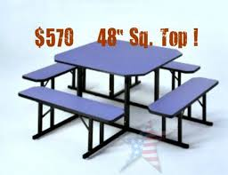 Round school lunch table Quick Ship benchseatingsquare Cafeteria Table Homeland Manufacturing Inc Cafeteria Tables Stylish Sanitary 8886610845 Courteous Service