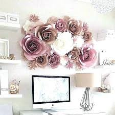 Pink Paper Flower Decorations Exciting Big Wall Decor Flowers How To Make For Huge Fun And