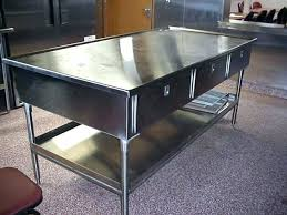 prep table with sink stainless steel work table with sink stainless steal galley cabinets work tables prep table