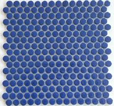 Circle Tiles Moddotz Navy Blue Porcelain Tile Penny Rounds Porcelain Tile