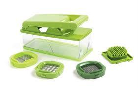 <b>Овощерезка с контейнером</b> Mastrad, цвет зелёный, в ...