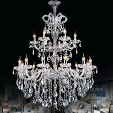 large crystal chandelier lighting luxurious large crystal chandelier light 2 tiers clear crystal lighting fixture staircase large crystal chandelier