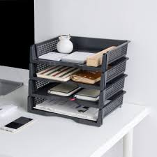 desk office file document paper. 3PCS/LOT MoeTron Office Paper Tray Document Storage Box Plastic A4 File Desk