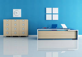good color for office. Pale Blue Office Setting Good Color For C