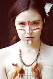 indian face paints on native american makeup