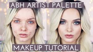 acne coverage abh artist palette makeup tutorial mypaleskin you