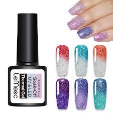 <b>LEMOOC Nail Gel</b> Polish 8ml Thermal Color Changing Rainbow ...