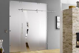 sliding glass doors with frosted side panels