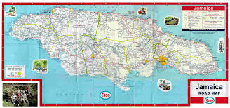 jamaica road map free jamaican road maps online