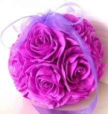 Crepe Paper Flower Balls Crepe Paper Flower Balls Purple Lavender Lilac Wedding