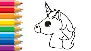 Unicorn coloring pages for kids, girls, boys, and teens: Emoji Unicorn Coloring Pages Cute