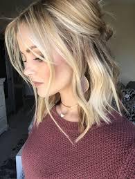 Sweet Haircut Designs Half Up Wavy Medium Length Hairstyle Cool Blonde Hair