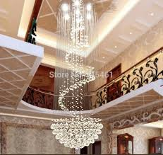 led modern minimalist duplex staircase chandelier crystal chandelier hanging lamp for villa clubhouse lobby long cable lights