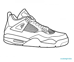 Nike Air Jordan Shoes Coloring Pages Sketch Page Hot And Shoe