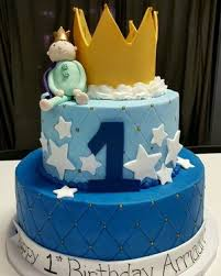 Royal Prince 1st Birthday Cake With Gold Crown Bc 114 Confection