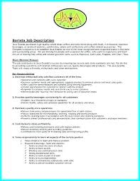 Barista Resume Fascinating Barista Resume Sample Socialumco