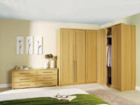 oak shaker doors with an oak wardrobe frame bedroom modular furniture