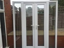 upvc double glazed french patio doors with side lights 188cm wide outswing pella global interior sidelights