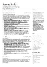 Resume Software Engineer Software Engineer Cv Examples Templates Visualcv