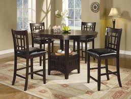 bar height kitchen table sets within dining idea round pub designs 7