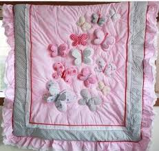2014 new 100% cotton high quality pink animal butterfly applique ... & 2014 new 100% cotton high quality pink animal butterfly applique embroidery  baby quilt comforter for Adamdwight.com