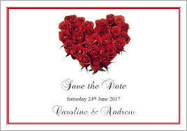 Red Save The Date Cards Red Rose Heart Save The Date Cards Swish Wedding