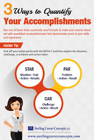 infographic ways to quantify your accomplishments sterling 3 ways to quantify your accomplishments