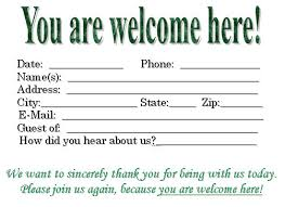 guest book template free visitor card template you can customize