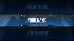 Youtube Template Psd Call Of Duty Youtube Banner Template Free Download Psd