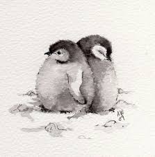 baby penguin drawing in pencil. Perfect Baby Art Drawing Pencil Baby Penguin Cute Love Animals Birds And Baby Penguin Drawing In Pencil N