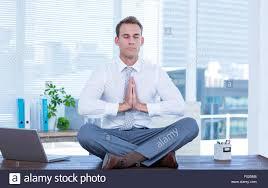 meditation businessman office. Zen Businessman Doing Yoga Meditation Office S