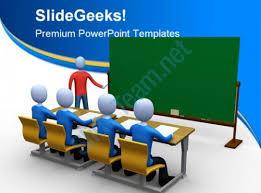Teachers Powerpoint Templates Teacher In Classroom Education Powerpoint Template 1110 Powerpoint