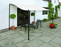 wall mounted gazebo awning 2 5 metre width with removable canopy cover co uk garden outdoors