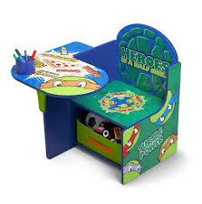 delta children chair desk with storage nickelodeon ninja turtles