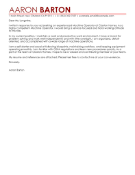 Leading Professional Machine Operator Cover Letter Examples