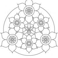 Free Easy Mandala Coloring Pages Murderthestout