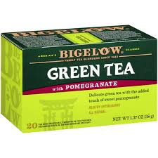 bigelow green tea with pomegranate caffeinated individual green tea bags for hot tea or iced