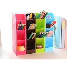 lani ang multifunction four grid candy colored desktop debris storage organizer box for office stationery pen socks make up tools set of 4