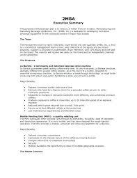 Executive Summary Resume Example Executive Summary Resume Template