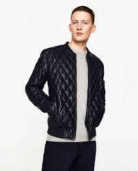 FAUX LEATHER QUILTED BOMBER JACKET - Padded-JACKETS-MAN-SALE ... & Image 2 of FAUX LEATHER QUILTED BOMBER JACKET from Zara Adamdwight.com