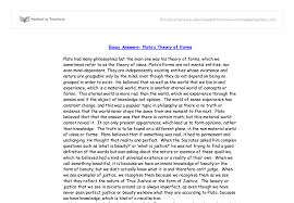 plato s theory of forms a level religious studies philosophy  document image preview