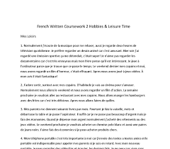 hobbies and leisure time french gcse modern foreign languages document image preview