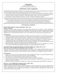 Resume Facility Management Resume