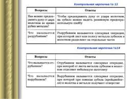 Презентация на тему Рубка металла  слайда 29 Контрольная карточка № 13 Контрольная карточка №14